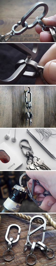 MSTR's Linx ensures that interchanging keys between keychains will never be a headache again. Linx's rather creative key-swapping approach isn't… - Parenting Yanko Design, Cool Tools, Cool Gadgets, Blacksmithing, Things To Buy, Industrial Design, Metal Working, Keychains, Diy And Crafts