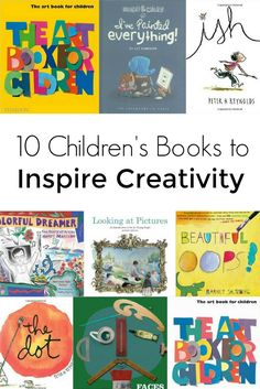 Creativity: 10 Children's Books to Inspire Creativity in Kids: Help kids learn about the creative process and gain confidence in their own artistic ability with these 10 children's books. Art Books For Kids, Best Children Books, Childrens Books, Toddler Books, Kids Reading, Teaching Reading, Teaching Art, Teaching Kindness, Reading Themes