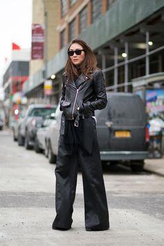 Jayne Min - NEW YORK FASHION WEEK STREET STYLE: FALL 2015   - HarpersBAZAAR.com