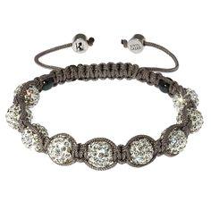 Edge West Chelsea Grey Hematite & Pave Bead Bracelet | Edge West Jewellery