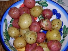 Garlic Mini Potatoes - Very simple side dish. Potatoes can boil while you are preping your main. Add minced garlic and any other seasonings you'd like. I'm a fan of adding sliced onions as well.