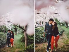 Cherry Blossom, DC Monuments, and How I Met Your Mother themed engagement shoot at the Jefferson Memorial and Tidal Basin