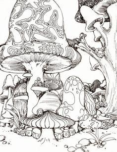 mushroom city by Psychic-Toast @ deviantART