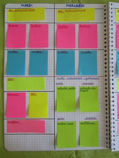 Cahier journal post it