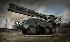 ArtStation - Deployable Rail Gun, Joe Peterson