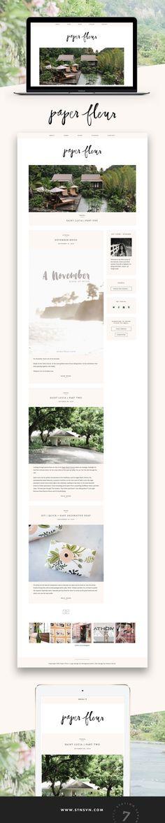 WordPress theme | Minimal web design | Lifestyle blog design | Station Seven | Click through to buy!