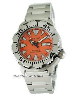 Seiko Japan Made Automatic 200M Divers Orange Monster SRP309J SRP309 Mens Watch