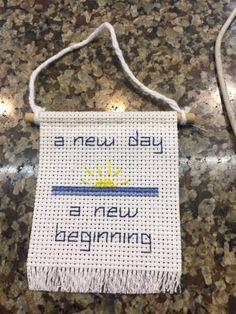 A new day a new beginning cross stitch by PeacheyMosscoolcraft on Etsy