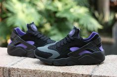 Free Shipping Only 69$ WMNS Nike Air Huarache Huarache of the Year Black Club Purple
