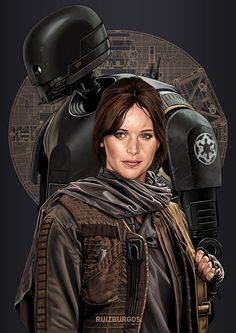 Rogue One: A Star Wars Story: K-2SO and Jyn Erson