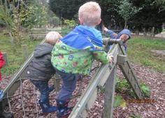 Little Explorers play on the forest school play area. School Play, Outdoor Classroom, Forest School, School Holidays, Outdoor Play, Woodland, Woods, Preschool, Nursery
