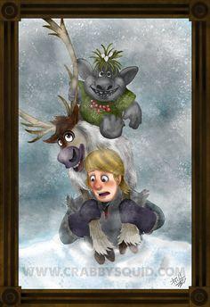 Disney Frozen Kristoff Haunted Mansion Fan Art 13 x 19 inch poster.