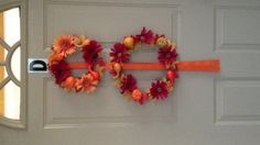 Fall wreaths made from dollar store materials!