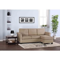 Small Spaces Configurable Sectional Sofa, Khaki - I need this in my apartment!!
