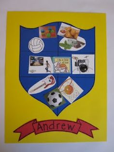Coat of Arms Collage - good activity to send home for families to complete together
