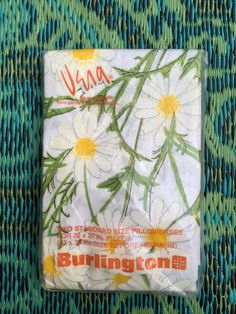 60's Vera Neumann 'Daisy Spray' x2 Standard Size Pillowcases - White with Mod Daisy Flower Print Burlington by ElkHugsVintage on Etsy