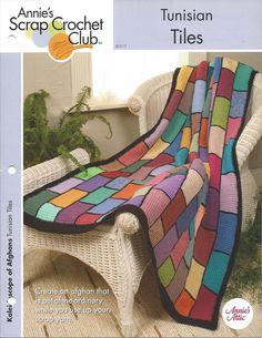 Azulejos De Cerâmica Tunisinas Sucata Crochê Clube itens decorativos Criações -  /    Tunisian Tiles Scrap Crocheting Club Knacks Creations -