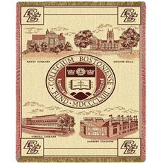 new concept 414ba 924cd Boston College BC Throw Blanket Woven Afghan Tapestry Eagles Blanket, Ncaa  College, Boston College