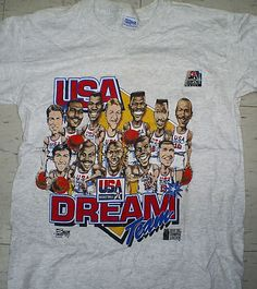 c255f6706a3343 Vintage 1992 USA Olympic Barcelona basketball Dream Team 1 t shirt size M