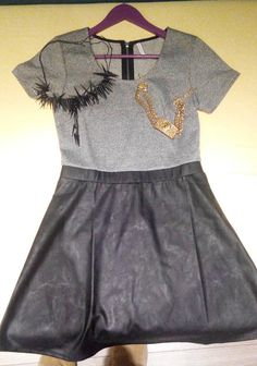 SILVER/BLACK DRESS 30-40€ BLACK NECKLACE 5€ GOLD NECKLACE 15€