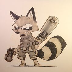 Rocket Raccoon from Guardians of the Galaxy. So excited for this movie!