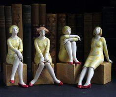 Elizabeth Price Ceramic Figures, Clay Figures, Ceramic Artists, Sculpture Clay, Sculptures, Ceramic Animals, Pottery Designs, Figurative Art, Ceramic Pottery