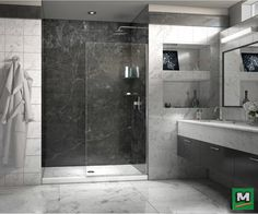 Enhance your shower space with a DreamLine® Linea Frameless Shower Door! With its 34'' x 72'' door-less design, this shower panel melds high-end luxury with effortless tranquility. Pretreated with ClearMax anti-lime scale glass coating, this ingenious configuration is easy to clean, so your bathroom will always exude beautiful, modern appeal.