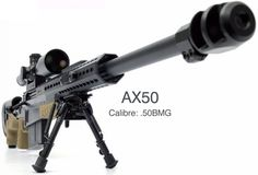 Accuracy International AX50. In my opinion the best sniper rifles in the world. www.accuracyinternational.com