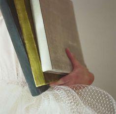 Luxurious velvet covers in rich hues.  Swan Albums from Bliss Books. www.blissbooks.net