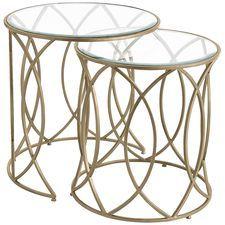 Elana Bronze Iron Round Nesting Tables $220.