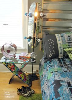 a few skateboard room ideas