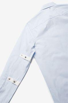 OAMC Strap Shirt Light Blue  $308.00 CAD Light Blue, Shirts, Collection, Tops, Women, Fashion, Moda, Fashion Styles, Shell Tops