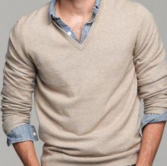 cashmere v-neck #sweater #menstyle