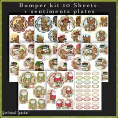 Bumper Kit 10 sheets one sentiments sheet Christmas on Craftsuprint - View Now!