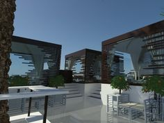 Concept design of the cafè LIBARIUM, located in Italy. Exterior view.