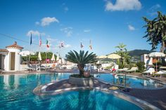 Thermal pool @ Hotel Internazionale Ischia - info@hotelinternazionaleischia.com, Via Acquedotto 33, 80070 Barano d'Ischia NA,  Tel: +39081901315 Outdoor Swimming Pool, Swimming Pools, Thermal Pool, Das Hotel, Island, Water, Outdoor Decor, Home, Tela
