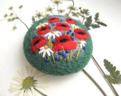 Needle felted brooch Felted landscapes Felted от FeltAccessories
