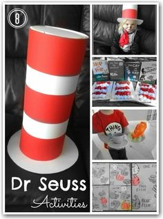 Dr Seuss activities from Here Comes The Girls blog