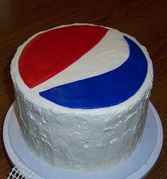 Pepsi Logo Cake
