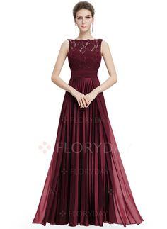 Dress - $129.23 - Solid Lace Sleeveless Maxi A-line Dress (1955113446)