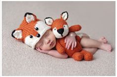 Photography baby boy 0-3 month Little Fox