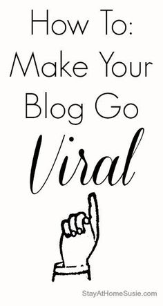 go viral - blogging tips. Some great ideas here. Being consistent and knowing your voice are big ones! - So Good is *** Find out more by going to the photo