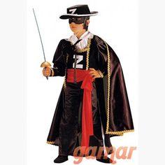 Disfraz de El Zorro. Disfraces para Niños. Disfraces de Calidad. Fabricación Nacional. www.disfracesgamar.com Darth Vader, Fictional Characters, Fancy Dress For Kids, Fantasy Characters