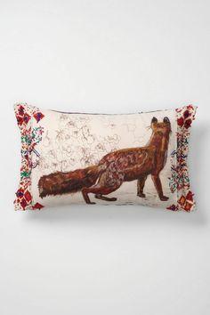 love this painted fox pillow, santa? Anthropologie Pillows, Anthropologie Uk, Fox Pillow, Best Pillow, Pillow Fight, Hello Cute, Fantastic Mr Fox, Cute Fox, Woodland Animals