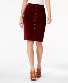 Jag Corduroy Pencil Skirt - Purple 10