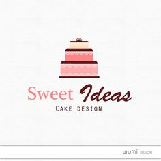 Logo  Premade & Custom logo  Great Cake logo custom colors by wumi, $20.00 Party Quotes, Cake Logo, Graphic Quotes, Bakeries, Custom Logos, Cake Ideas, Design Ideas, Branding, Icons