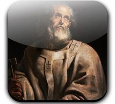 St. Peter - Simon Peter or Cephas, the first pope, Prince of the Apostles, and founder, with St. Paul, of the see of Rome.