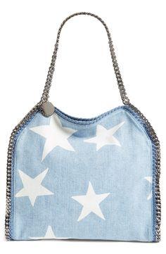 483e238498 Stella McCartney  Small Falabella - Star  Embroidered Denim Tote