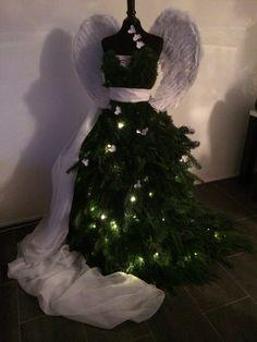 Paspop kerstboom  Mannequin christmas tree