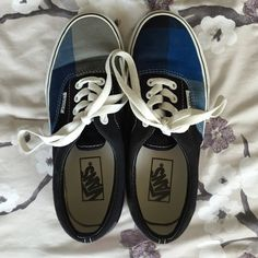 1ab8cae889 Shop Women s Vans Black Blue size Sneakers at a discounted price at  Poshmark.